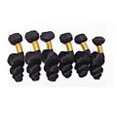 halpa Aitohiusperuukit-6 pakettia Brasilialainen Löysät aaltoilevat Virgin-hius Hiukset kutoo 8-26 inch Hiukset kutoo Hiukset Extensions / 10A