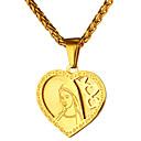 Χαμηλού Κόστους Μοδάτο Κολιέ-Ανδρικά Κρεμαστά Κολιέ Καρδιά Βίντατζ Ανοξείδωτο Ατσάλι Χρυσό Ασημί Κολιέ Κοσμήματα 1 Για Καθημερινά Γαμήλια Τελετή
