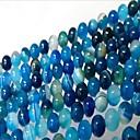baratos Miçangas-Jóias DIY 46 pçs Contas Ágata Azul Redonda Bead 0.8 cm faça você mesmo Colar Pulseiras