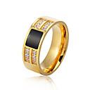 Χαμηλού Κόστους Τέχνη Crafts-Ανδρικά Band Ring Χρυσό Ασημί Ανοξείδωτο Ατσάλι Circle Shape Μοντέρνα Επίσημο Γραφείο & Καριέρα Κοσμήματα