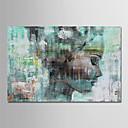 Χαμηλού Κόστους Πίνακες Ανθρώπων-Hang-ζωγραφισμένα ελαιογραφία Ζωγραφισμένα στο χέρι - Άνθρωποι Σύγχρονο Απλός Μοντέρνα Περιλαμβάνει εσωτερικό πλαίσιο / Επενδυμένο καμβά