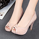 ราคาถูก Clearance-สำหรับผู้หญิง รองเท้าส้นสูง ส้น Stiletto ที่สวมนิ้วเท้า PU ความสะดวกสบาย / ความแปลก ฤดูใบไม้ผลิ / ฤดูร้อน สีดำ / สีชมพู / ผ้าขนสัตว์สีธรรมชาติ / งานแต่งงาน / พรรคและเย็น / พรรคและเย็น