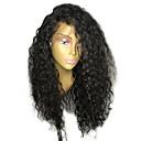 Χαμηλού Κόστους Εξτένσιος μαλλιών με ανταύγιες-Φυσικά μαλλιά Δαντέλα Μπροστά Χωρίς Κόλλα Δαντέλα Μπροστά Περούκα στυλ Βραζιλιάνικη Σγουρά Περούκα 130% Πυκνότητα μαλλιών / Φυσική γραμμή των μαλλιών / Περούκα αφροαμερικανικό στυλ / Αμεταποίητος