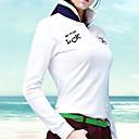 זול בגדי גולף-בגדי ריקוד נשים 1pc חולצה קצרה שרוול ארוך גולף פעילות חוץ ספורט וחוץ סתיו חורף / עמיד / גמישות גבוהה