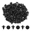 billige Dekorasjonsremser-100 stk 8 mm dia svart plast splash teppe push-type interiør mat klips for biler
