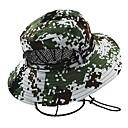 billige Tilbehør-Hatt til turbruk Boonie hat Hatt Bred kant Solkrem UV-bestandig Kamuflasje Bomull Vår til Herre Dame Jakt Fisking Klatring Grønn