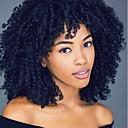 Χαμηλού Κόστους Συνθετικές περούκες χωρίς σκουφί-Συνθετικές Περούκες Σγουρά Kinky Curly Kinky Σγουρό Σγουρά Κούρεμα νεράιδας Με αφέλειες Περούκα Μπεζ Μαύρο Συνθετικά μαλλιά Περούκα αφροαμερικανικό στυλ Μαύρο Καφέ