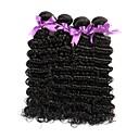 billiga Förslutning ochframsida-4 paket Brasilianskt hår Stora vågor Obehandlad hår Human Hår vävar Hårförlängning av äkta hår Människohår förlängningar / 10A