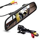 billiga Parkeringskamera för bil-ziqiao 4,3 tums digital tft lcd spegelmonitor och 8led ccd hd bil bakifrån kamera