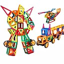 cheap Magnet Toys-Magnetic Blocks Magnetic Tiles Building Blocks 218 pcs People Vehicles Transformable Boys' Girls' Toy Gift