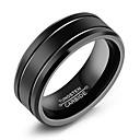 ราคาถูก ไฟวิ่งในตอนกลางวัน-สำหรับผู้ชาย วงแหวน แหวนร่อง สีดำ Titanium Steel ทังสเตนเหล็ก Titanium รูปร่างวงกลม แฟชั่น จิวเวลเริ่มต้น ทุกวัน เป็นทางการ เครื่องประดับ คลาสสิค ธีมคลาสสิก