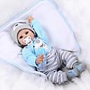 povoljno Autentične bebe-NPKCOLLECTION NPK DOLL Autentične bebe Beba 22 inch Silikon Vinil - vjeran Sladak Hand Made Sigurno za djecu Non Toxic Lijep Dječjom Uniseks / Djevojčice Igračke za kućne ljubimce Poklon / CE
