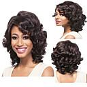 Χαμηλού Κόστους Αξεσουάρ μαλλιών-Συνθετικές Περούκες Σγουρά Βαθύ Κύμα Σγουρά Βαθύ Κύμα Περούκα Μπεζ Συνθετικά μαλλιά Φυσική γραμμή των μαλλιών Καφέ