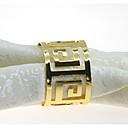 baratos Perucas Sintéticas sem Touca-Estilo Europeu Metal Redonda Anel de Guardanapo Decorações de mesa 12 pcs