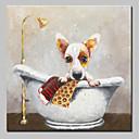 billiga Djurporträttmålningar-Hang målad oljemålning HANDMÅLAD - Djur Djur Enkel Moderna Inkludera innerram / Sträckt kanfas