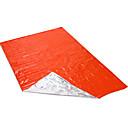 ราคาถูก ถุงนอนและอุปกรณ์การนอนในการตั้งแคมป์-ผ้าห่มฉุกเฉิน Emergency Sleeping Bag กลางแจ้ง แคมป์ปิ้ง รักษาให้อุ่น Ultraviolet Resistant หนา แคมป์ปิ้ง & การปีนเขา กลางแจ้ง สำหรับ ส้ม สีเขียว