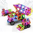 זול בלוקים מגנטיים-בלוק מגנטי אריחים מגנטיים אבני בניין 198 pcs רכבים מכונית טרנספורמבל בנים בנות צעצועים מתנות