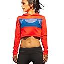 billige Joggeklær-Dame T-skjorte til jogging Gateklær Rød Bomull Yoga & Danse Sko Trening Treningsøkt Hattetrøje Genser Topper Langermet Sport Sportsklær Pusteevne Uelastisk