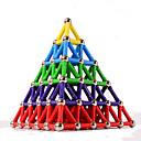 ราคาถูก บล็อกตัวต่อแม่เหล็ก-84 pcs 5mm Magnetiske leker บล็อกแม่เหล็ก Magnetic Sticks แผ่นแม่เหล็ก Building Blocks ของเล่นการศึกษา พลาสติก แม่เหล็ก Magnetic Pyramid สำหรับเด็ก / ผู้ใหญ่ ทุกเพศ เด็กผู้ชาย เด็กผู้หญิง Toy ของขวัญ