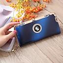 ราคาถูก กระเป๋าตังค์-สำหรับผู้หญิง คริสตัล PU กระเป๋าเงิน รูปเรขาคณิต สีม่วง / สีน้ำเงิน / ทับทิม