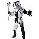 Χαμηλού Κόστους Κοστούμια για Ενήλικες-Burlesque / Κλόουν Στολές Ηρώων Ενηλίκων Ανδρικά Halloween Γιορτές / Διακοπές Πολυεστέρας Μαύρο Αποκριάτικα Κοστούμια Καρό / Τετραγωνισμένο