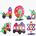 baratos Blocos Magnéticos-Blocos Magnéticos Azulejos magnéticos Blocos de Construir 173 pcs Tema Clássico Transformável Para Meninos Para Meninas Brinquedos Dom