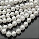 Χαμηλού Κόστους Μοντέλα και μοντέλα-DIY Κοσμήματα 46 τεμ Ștrasuri Απομίμηση Μαργαριταριού Λευκό Κυκλικό Χάντρα 0.8 cm DIY Κολιέ Βραχιόλια