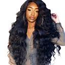 billige Hairextension med naturlig farge-Ekte hår Blonde Forside Parykk Side del stil Brasiliansk hår Krop Bølge Kinky Curly Parykk 250% Hair Tetthet med baby hår Naturlig hårlinje Pre-Plucked Blekte knuter Dame Medium Lengde Lang