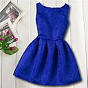 Χαμηλού Κόστους Φορέματα για κορίτσια-Παιδιά Κοριτσίστικα Βασικό Καθημερινά Λουλούδι Ζακάρ Αμάνικο Φόρεμα Κόκκινο