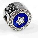 Χαμηλού Κόστους Χάντρες-DIY Κοσμήματα 1 τεμ Ștrasuri Προσομειωμένο διαμάντι Κράμα Βαθυγάλαζο Κυκλικό Χάντρα 0.5 cm DIY Κολιέ Βραχιόλια