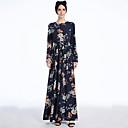 Χαμηλού Κόστους Ethnic & Cultural Κοστούμια-αραβικός Γυναικεία Μοντέρνα Αραβικό φόρεμα Αμπάγια Φόρεμα Kaftan Για Πολυεστέρας Εκτύπωση