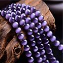 baratos Miçangas-Jóias DIY 46 pçs Contas Pedras preciosas sintéticas Roxo Redonda Bead 0.8 cm faça você mesmo Colar Pulseiras
