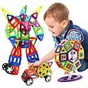 baratos Blocos Magnéticos-Blocos Magnéticos Azulejos magnéticos Blocos de Construir 198 pcs Veículos Carro Transformável Para Meninos Para Meninas Brinquedos Dom