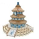 ราคาถูก ของประดับตกแต่งงานแต่งงาน-3D-puslespill ปริศนาไม้ Architecture แฟชั่น สถาปัตยกรรมแบบจีน วัดแห่งสวรรค์ คลาสสิก แฟชั่น ดีไซน์มาใหม่ ระดับมืออาชีพ โฟกัสของเล่น