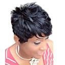 Χαμηλού Κόστους Χωρίς κάλυμμα-Ανθρώπινη Τρίχα Περούκα Φυσικό Κυματιστό Κούρεμα νεράιδας Σύντομα Hairstyles 2019 Berry Φυσικό Κυματιστό Πλευρικό μέρος Μηχανοποίητο Μαύρο Μεσαία Auburn Μεσαία Auburn / Bleach Blonde 8 Ίντσες
