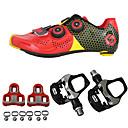 Χαμηλού Κόστους Στηρίγματα και βάσεις τηλεφώνου-SIDEBIKE Παπούτσια ποδηλασίας με πετάλι και στήριγμα Παπούτσια για ποδήλατα δρόμου Ανθρακονήματα Αντιολισθητικό Ποδηλασία Μαύρο / Κόκκινο Πράσινο / Μαύρο Ανδρικά Γυναικεία Παπούτσια Ποδηλασίας