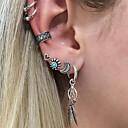 ราคาถูก ต่างหูผู้ชาย-สำหรับผู้ชาย สำหรับผู้หญิง คริสตัล ต่างหูคลิป ข้อแขนหู ต่างหู Helix Leaf Shape MOON Heart วินเทจ ต่างหู เครื่องประดับ สีเงิน สำหรับ ของขวัญ งานราตรี 7pcs