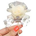 """ราคาถูก ดอกไม้งานแต่งงาน-ดอกไม้สำหรับงานแต่งงาน ช่อดอกไม้ที่ใช้ติดเสื้อเจ้าบ่าวและญาติที่เป็นผู้ชายของเจ้าบ่าวและเจ้าสาว งานแต่งงาน งาน/ปาร์ตี้ ซาติน 2.76""""(ประมาณ"""