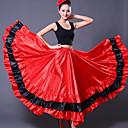 ราคาถูก ชุดเต้นรำลาติน-ชุดเต้นรำโมเดิร์น ด้านล่าง สำหรับผู้หญิง การฝึกอบรม เส้นใยสังเคราะห์ ขวิด Wave-like ปรับตัวลดลง กระโปรง