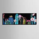 billige Blomster-/botaniske malerier-Innrammet Lerret Innrammet Sett - Landskap Blomstret / Botanisk Plastikk Tegning Veggkunst