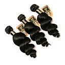 baratos Extensões de Cabelo com Cor Natural-3 pacotes Cabelo Brasileiro Ondulação Larga Cabelo Humano Cabelo Humano Ondulado Tramas de cabelo humano Extensões de cabelo humano / 8A