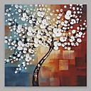 billiga Abstrakta målningar-Hang målad oljemålning HANDMÅLAD - Blommig / Botanisk Moderna Inkludera innerram / Sträckt kanfas