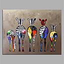 billige Abstrakte malerier-håndmalt lerret dyr oljemaleri fargerik sebra moderne kunst ingen ramme