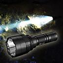 billige Lommelykter & campinglykter-Nitecore P30 LED Lommelygter Vannavvisende 1000 lm LED LED 1 emittere 8.0 lys tilstand Vannavvisende Bærbar Nedslags Resistent Blinkende LED-lys Camping / Vandring / Grotte Udforskning Jakt Svart