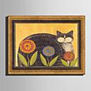 זול אומנות ממוסגרת-קאנבס ממוסגר סט ממוסגר - חיות פרחוני / בוטני פלסטיק איור וול ארט