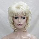 povoljno Sintetičke perike bez kape-Sintetičke perike Wavy Stil Stepenasta frizura Capless Perika Plavuša Blonde Sintentička kosa Žene Plavuša Perika