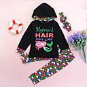 Χαμηλού Κόστους Σετ ρούχων για κορίτσια-Νήπιο Κοριτσίστικα Ενεργό Καθημερινά Γεωμετρικό Στάμπα Συνδυασμός Χρωμάτων Θέμα Παραμυθιού Μακρυμάνικο Κανονικό Κανονικό Βαμβάκι Σετ Ρούχων Μαύρο / Χαριτωμένο