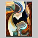 זול ציורים מופשטים-ציור שמן צבוע-Hang מצויר ביד - אנשים מודרני כלול מסגרת פנימית / בד מתוח