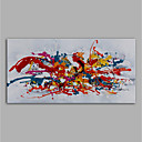 voordelige Abstracte schilderijen-Hang-geschilderd olieverfschilderij Handgeschilderde - Abstract Modern Zonder Inner Frame / Rolled Canvas