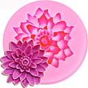 baratos Pinturas Animais-Forma de lótus 3d silicone molde bolo de chocolate doces jello decoração ferramentas
